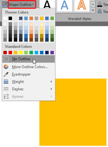 No Line for Shapes in PowerPoint