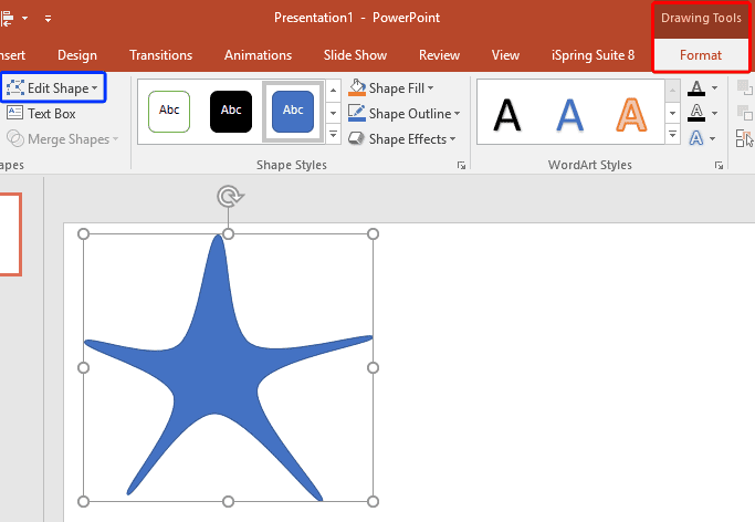Edit Points for Shapes in PowerPoint