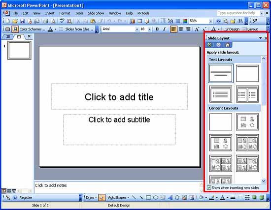 Slide Layouts in PowerPoint