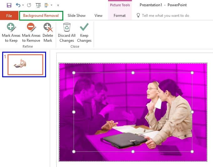 Remove Background from Pictures in PowerPoint