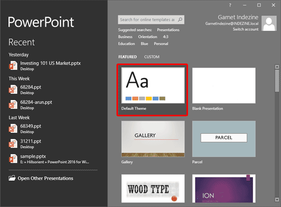 Set Standard 4:3 Aspect Ratio as Default in PowerPoint