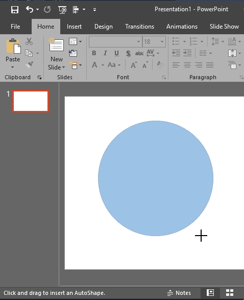 Insert Shapes in PowerPoint