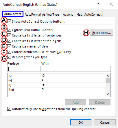 AutoCorrect Options in PowerPoint