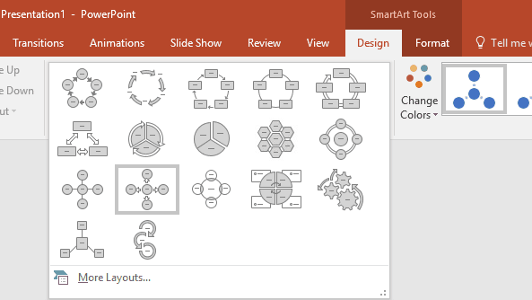 Change SmartArt in PowerPoint