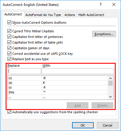 AutoCorrect Entries in PowerPoint