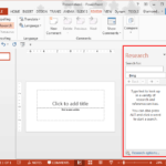Proofing: Research Tools in PowerPoint and Microsoft Office