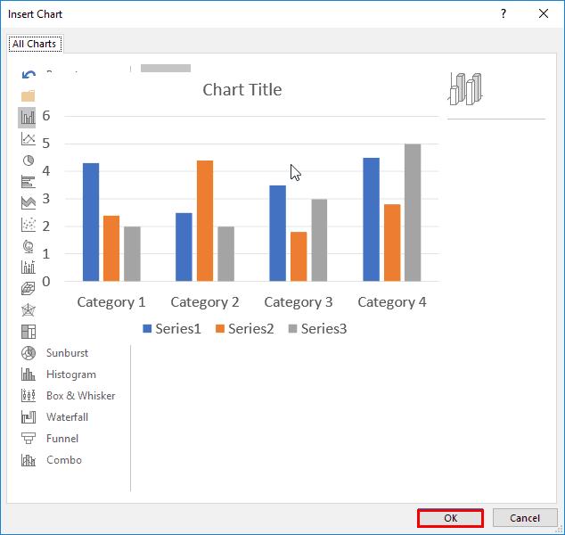 Insert Chart in PowerPoint