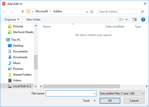 Manage and Load Add-ins in PowerPoint