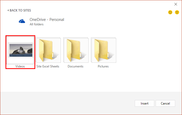 PowerPoint OneDrive Video