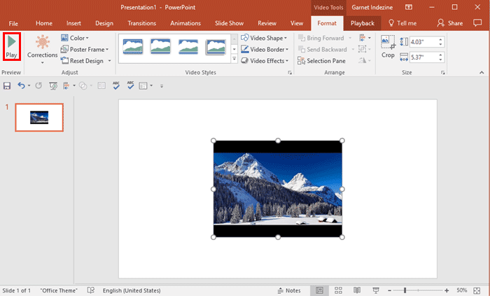Insert YouTube Video in PowerPoint