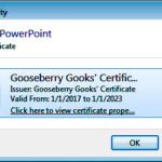 Create Digital Signature PowerPoint