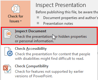 PowerPoint Inspect