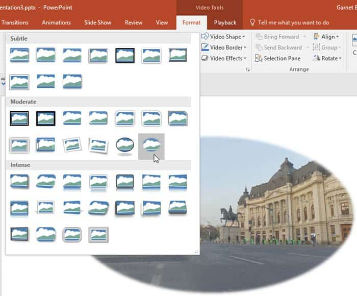 Video Styles in PowerPoint