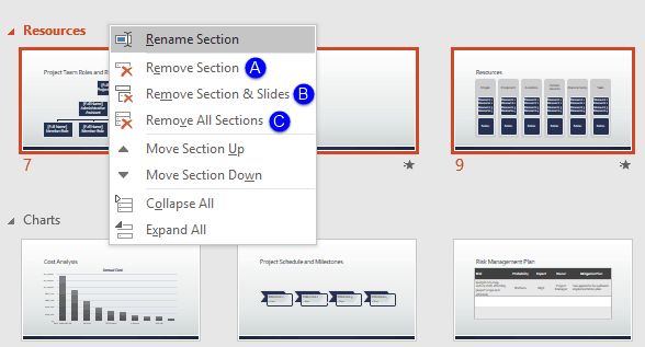 PowerPoint Remove Sections