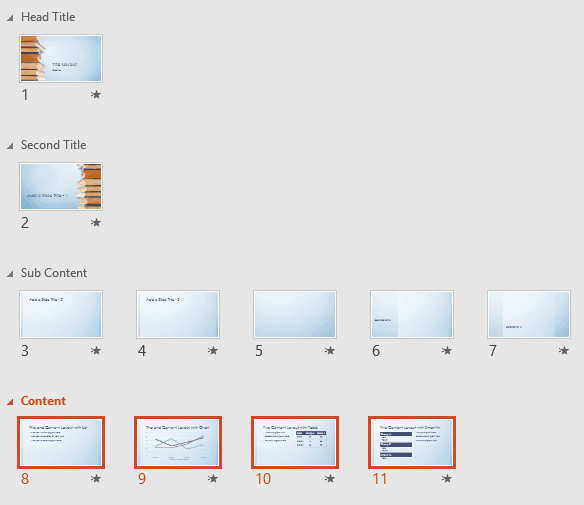 PowerPoint Reorder Sections