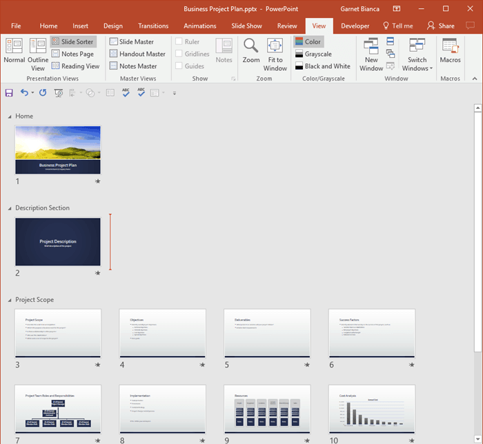 Sections: Getting Started with Sections in PowerPoint