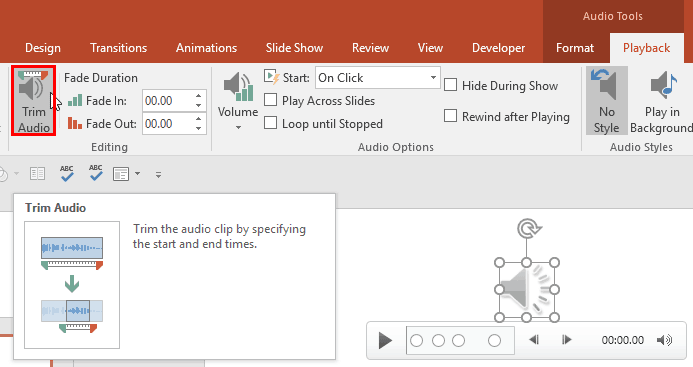 How to Trim Sound in PowerPoint