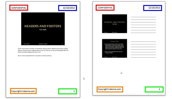 Headers and Footers in PowerPoint Handouts