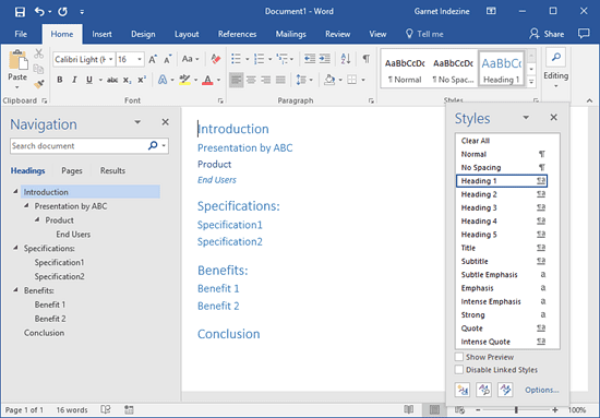 Creating PowerPoint Outlines in Microsoft Word