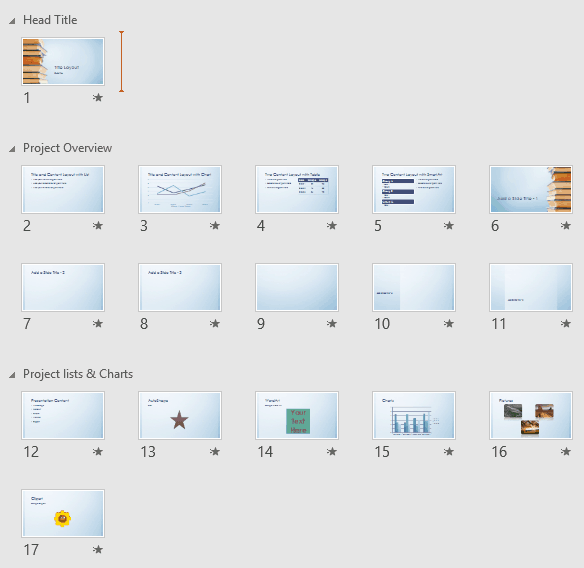 Viewing Sections in PowerPoint