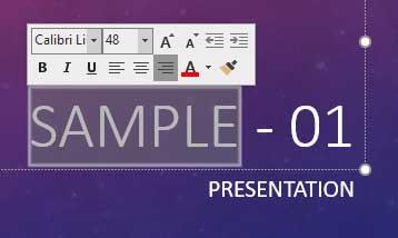Mini Toolbar in PowerPoint