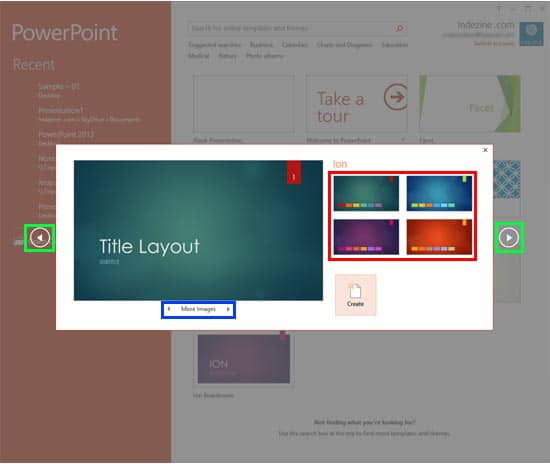 Presentation Gallery in PowerPoint