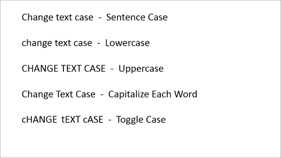 Change Case in PowerPoint