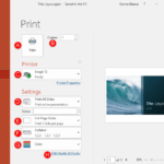 Print Option in Backstage View in PowerPoint