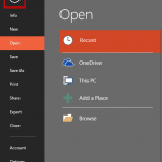 File Menu and Backstage View in PowerPoint