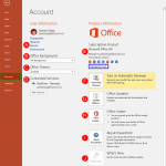Account Option in Backstage View in PowerPoint