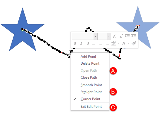 Edit Points in Motion Paths of Animations in PowerPoint