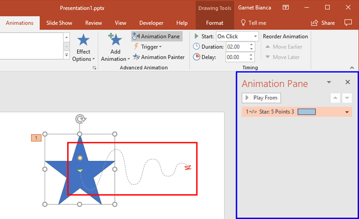 Lock and Unlock Paths for Motion Path Animations in PowerPoint