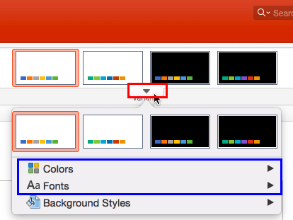 Applying Theme Colors and Theme Fonts in PowerPoint