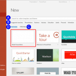 File Types, File Menu, and Backstage View: New Tab of Backstage View in PowerPoint