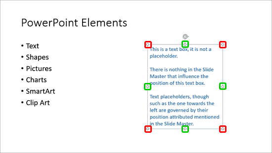 Resize Text Boxes on a Slide in PowerPoint
