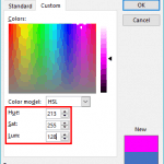 Working with HSL Colors in PowerPoint
