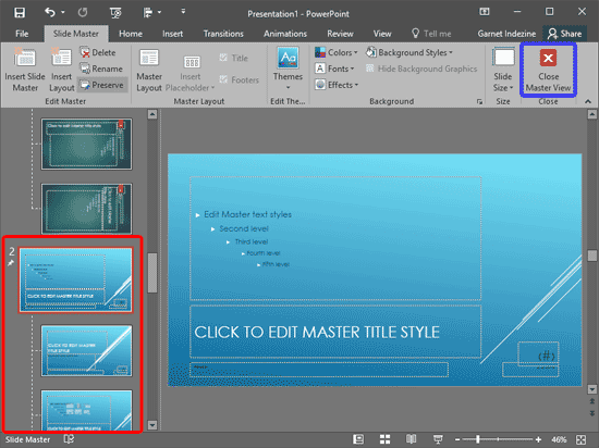 Add and Rename Slide Masters in PowerPoint