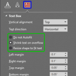 Text Formatting: Text Box Autofit Options in PowerPoint
