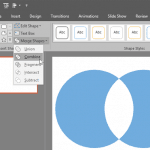Shape Combine Command in PowerPoint