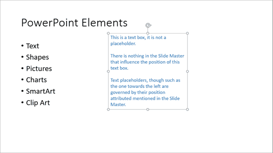 Move Text Boxes on a Slide in PowerPoint