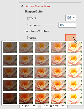 Corrections and Color Options for Picture Backgrounds in PowerPoint