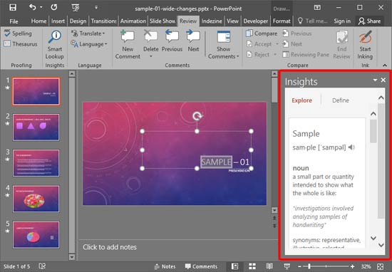 Task Pane in PowerPoint