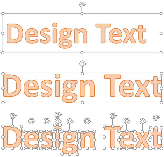 Convert Text to Shapes by Fragmenting in PowerPoint