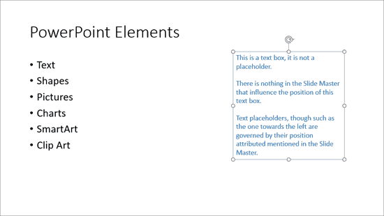 Reposition Text Boxes in PowerPoint