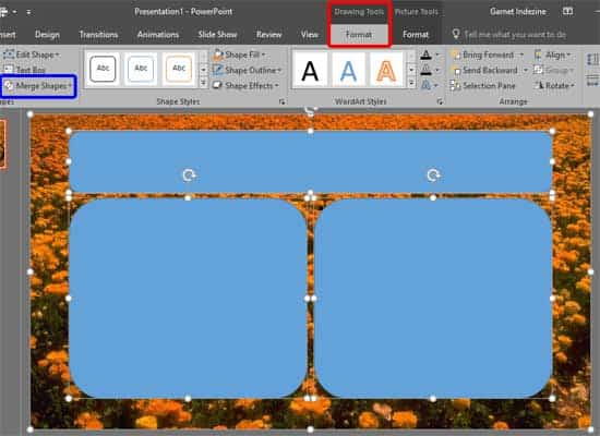 Merge Shapes with Pictures in PowerPoint