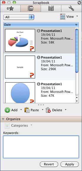 Toolbox - Scrapbook Tab in PowerPoint
