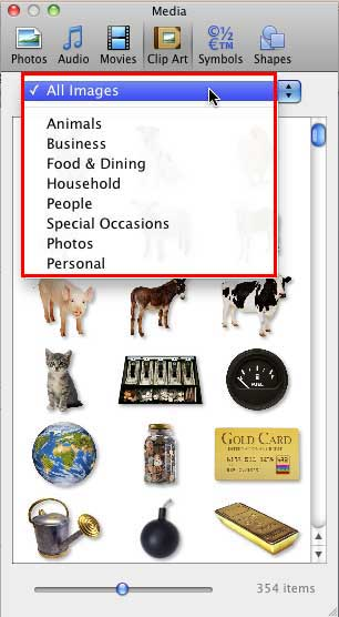 Customize Clip Art Categories within Media Browser in PowerPoint