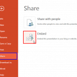 Embed Presentations in PowerPoint