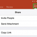 File Types, File Menu, and Backstage View: Share Options in PowerPoint