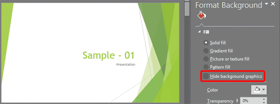 Format Slide Background in PowerPoint